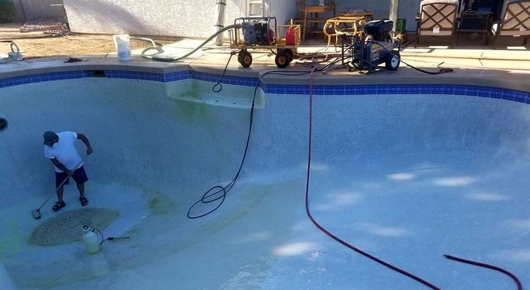 Pool Tile Acid Washing