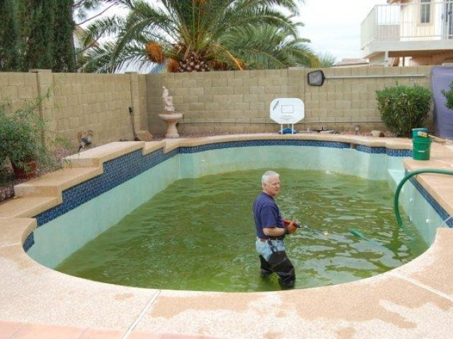 Pool draining services